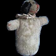 Antique Mohair Spaniel Dog, Handmade Stuffed Puppet