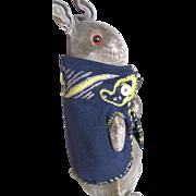 "Rare, Antique Steiff 8"" Peter Rabbit in Homemade Jacket"