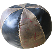 Primitive, Oilcloth Stuffed Toy Ball