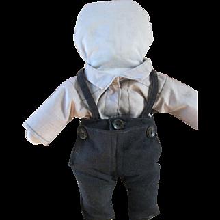 "Vintage Amish Doll 13"" Boy, Berne, Indiana"