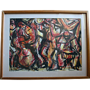 Newbery Medal Winning Artist Ann Grifalconi Jazz Men Original Painting