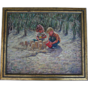 Reserved for David ** William A. Drake (1891-1964) 1960s Original Oil Painting Listed American / Canadian Artist