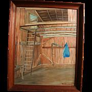 Brooklyn Connecticut Artist William G. Stellenwerf 1978 Oil Painting