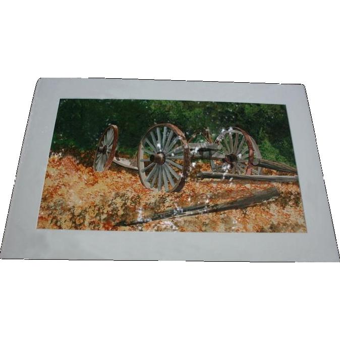 Listed Artist James Feriola B 1925 Country Landscape Watercolor From Randomharvest On Ruby Lane