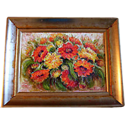 Original Oil Painting Tuija Piepponen Finland Artist Actress Finnish Flowers