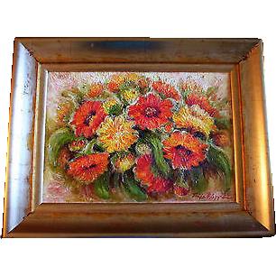 Original Tuija Piepponen Still Life Oil Painting By Finland Artist From Randomharvest On Ruby Lane