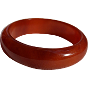 Rare Luminous Cherry Amber Bakelite Bangle Bracelet
