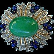 Spectacular Jomaz Domed Pave Rhinestone Jeweled Brooch