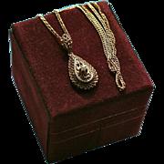 14K Gold Diamond Esemco Italy Pendant Necklace