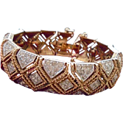 Vintage Rare Panetta Pave Rhinestone Bracelet