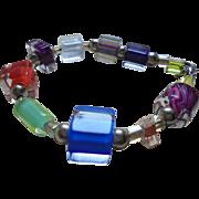 Modernist Encased Lucite / Glass 1970's Bracelet