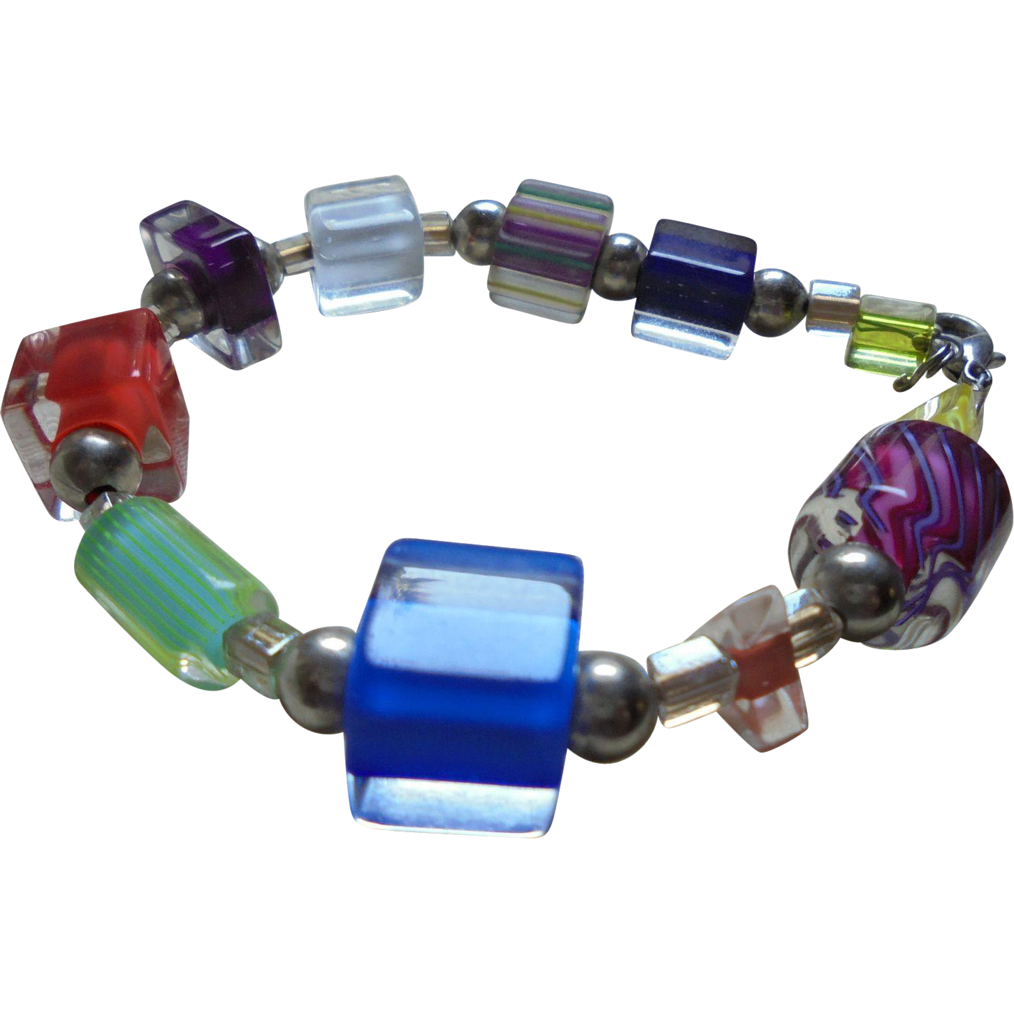 Modernist Encased Lucite Glass 1970 39 S Bracelet Random Harvest Ruby Lane