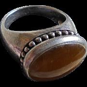 Vintage Sterling Spiny Oyster Ring Size 8.5