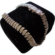 14K Gold Genuine Diamond Chunky Tennis Bracelet