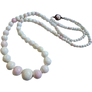 Beautiful Angelskin Coral Graduated Beaded Necklace