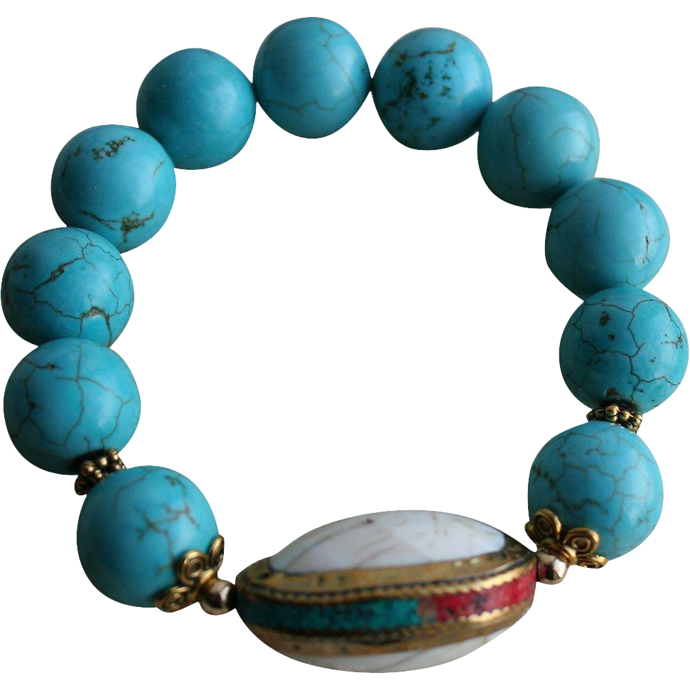Reserved For S Vintage Turquoise Gold Plated Sterling Inlaid Coral From Randomharvest On Ruby