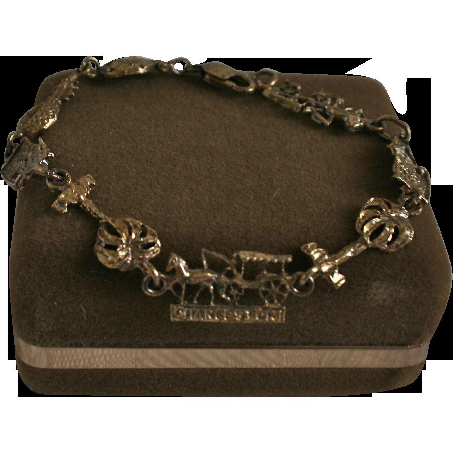 Charleston South Carolina Vermeil Sterling Silver Bracelet From Randomharvest On Ruby Lane