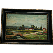 Hungarian Artist Adolphe Fenyes (1867-1945) Hungary Landscape Oil Painting
