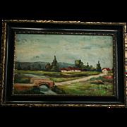 Original Adolphe Fenyes (1867-1945) Hungary Landscape Oil Painting