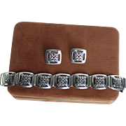 Celtic Knot Sterling Silver Bracelet Earrings Set