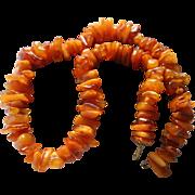 Huge Natural Baltic Amber & Egg Yolk Amber Beaded Necklace