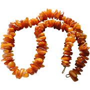 Huge Natural Baltic Amber Beaded Necklace