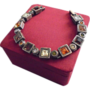 Vintage Patricia Locke Modernist Crystal Bracelet