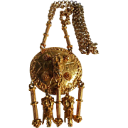 Vintage Pauline Rader Elephant Runway Couture Statement Necklace