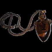 Vintage Maya Evangelista Chunky Runway Pendant Necklace