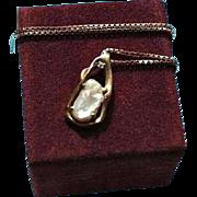 18K Unoaerre High-End Diamond & South Sea Baroque Pearl Pendant Necklace