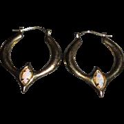 14K Fiery Opal Pierced Earrings Designer Carla