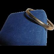 Antique Gold-Filled Etched Clamper Baby Child's Bracelet Signed H.F.Barrows