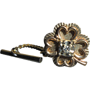 10K Gold & Diamond Four Leaf Clover Tie-Tac Pin Men's