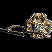 10K Gold & Diamond Four Leaf Clover Tie-Tac Pin Men's