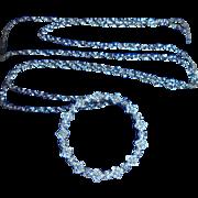14K Diamond Eternity Pendant Necklace 14K White Gold 26 Genuine Diamonds TCW .25