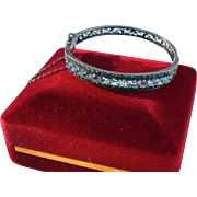 Sterling Blue Topaz Clamper Cuff Bracelet