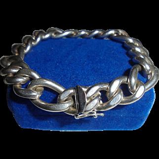 Chunky Solid Sterling Silver Link Bracelet Heavy Sheridan Silver Co.