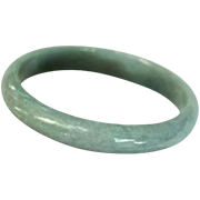 Celadon Green Jade Bangle Bracelet Stunning!