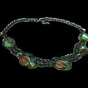 Gorgeous Juliana Delizza & Elster Glass & Rhinestone Draping Bib Choker Necklace