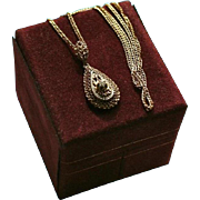 14K Gold Diamond Esemco Italy Pendant Necklace