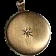 Antique 14K Gold Victorian Diamond Locket Pendant