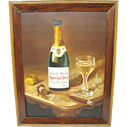 Urbana Wine Company framed tin sign.