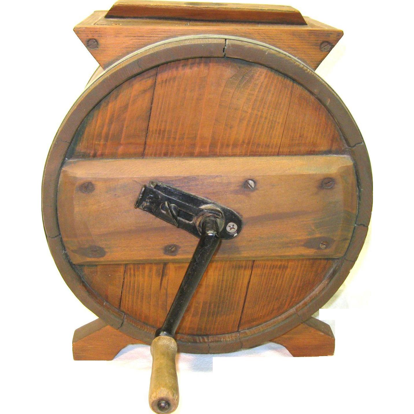 Antique 19th. Century hand crank butter churn.