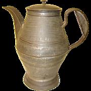 Antique Primitive Tin Coffee Pot  C-1790-1820