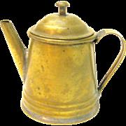 Vintage Primitive Miniature Brass Coffee Pot