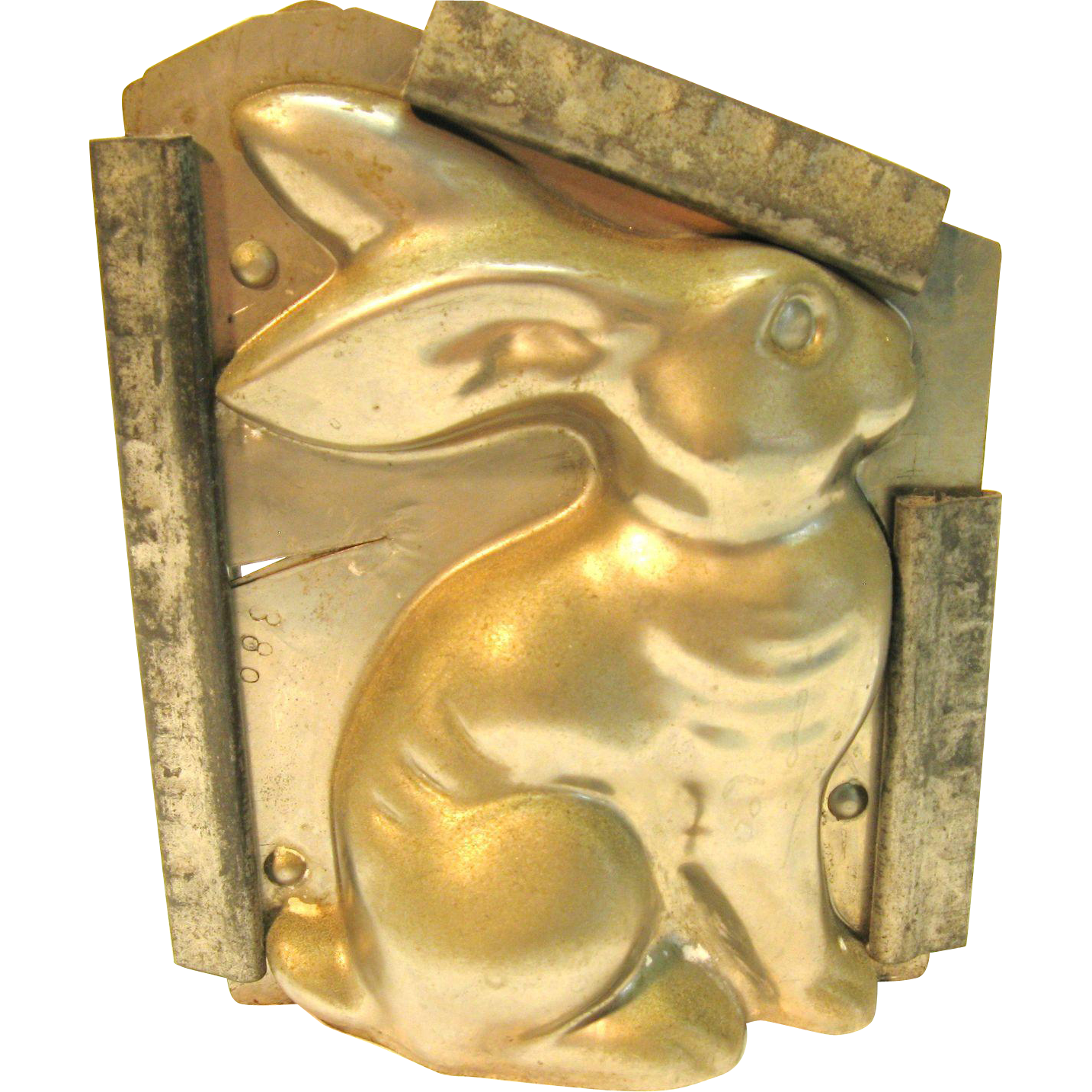 Vintage Metal Bunny Chocolate Mold