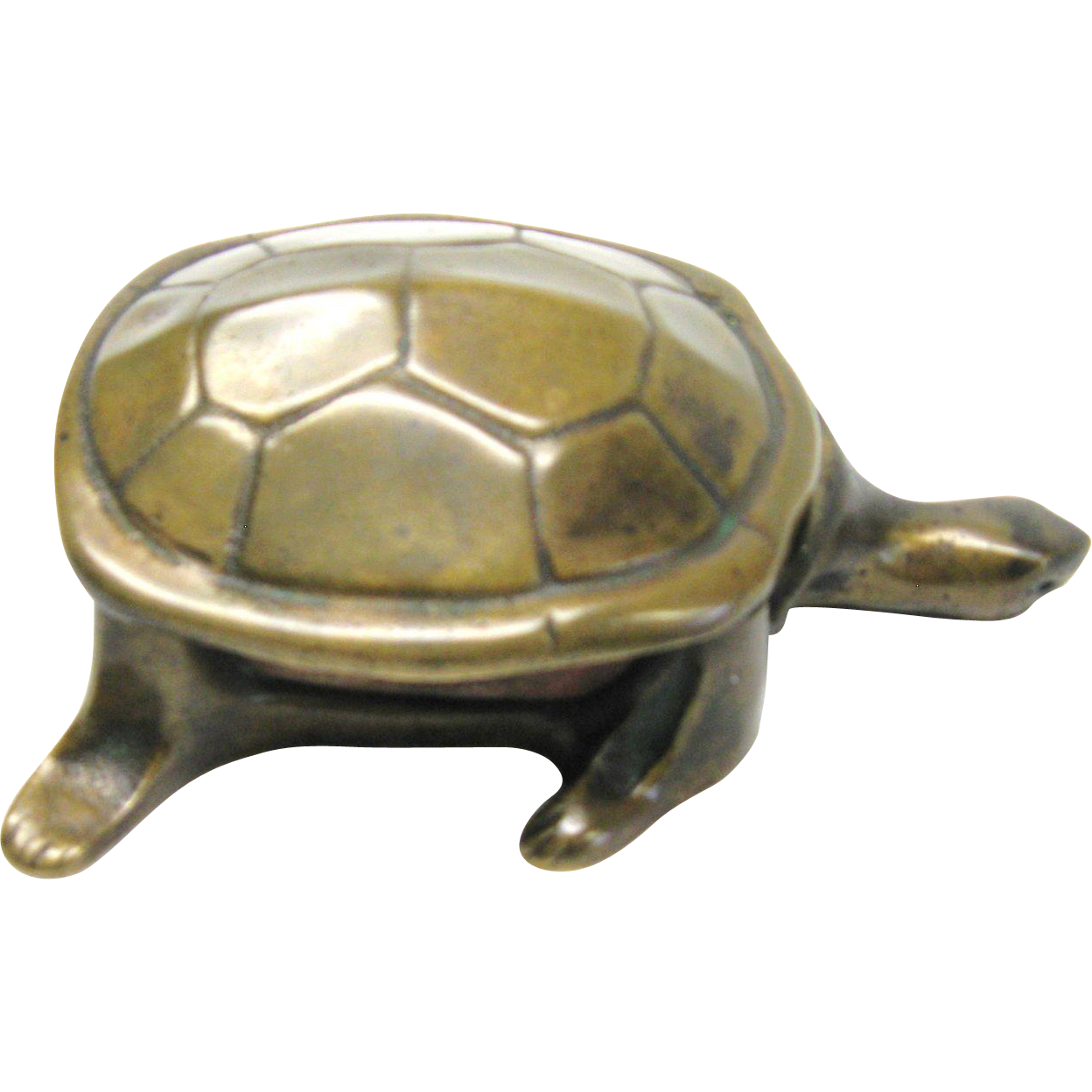 Wonderful Bronze Turtle Mechanical Match Safe
