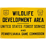 Vintage Rare Pennsylvania Game Commission Sign