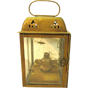 Old Small Brass Oil Lantern