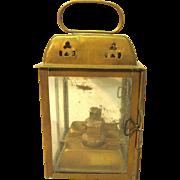 Old Small Brass Oil Lantern